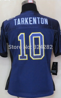 2014-15 Stitched - 10 Fran Tarkenton Women's Drift Fashion Purple Elite Football Jerseys size: S-XXL