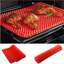 Grátis frete 1 Pc Red Pyramid panela antiaderente Silicone Baking Mat tapete de cozinha molde assadeira do forno(China (Mainland))