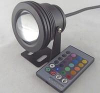 HIgh power  RGB  10W LED Floodlight Underwater Waterproof Flood Light 85~265V outdoor swimming pool lighting landscape  black