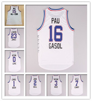 2015 All Star Game Jersey Basketball Jerseys Color White Sport Shirts  Size:S-XXXL Free Shipping