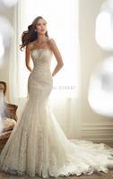 FDCL Custom Size New Elegant White/ivory Mermaid Bridal Gown Strapless Beading Applique Tulle Floor-Length Wedding Dresses