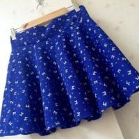 Free shipping autumn new cotton bow bubble skirt sundress umbrella skirt skirts wholesale women pilling