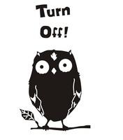 cartoon owl light switch sticker computer fridge furniture home nursery decor