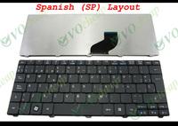 New Laptop keyboard for Acer Aspire One D255 D257 D260 521 533, Gateway LT21 LT2100 NAV50 Matt Black Spanish SP - NSK-AS40S