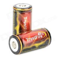 2 Piece TrustFire TF 18350 1200mAh 3.7V Li-ion Rechargeable Battery Batteries