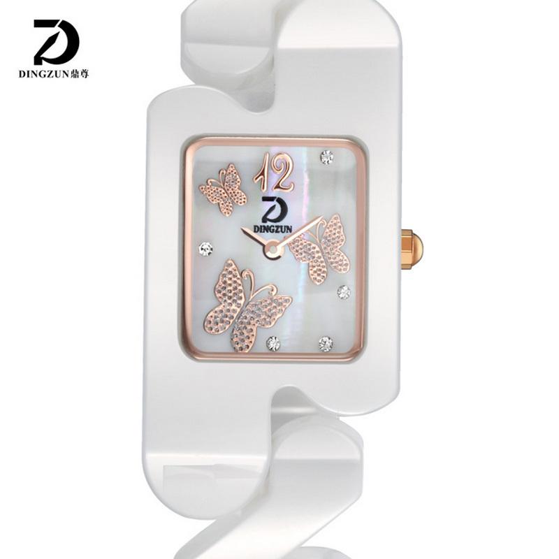 DINGZUN Austria crystal butterfly Dial Watch 200m waterproof quartz watch 316L steel ceramic radiation health watch DZ2005(China (Mainland))