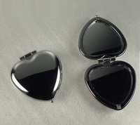 Shiny Heart Compact Mirror Personalized Custom Silver Makeup Mirror FREE SHIPPING