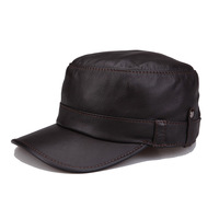 Original design lovers cap quinquagenarian autumn and winter genuine leather hat sheepskin warm hat cadet cap