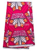 Latest Ankara Super Deluxe Wax Fuschia Orange Pattern Material For Church sw213104