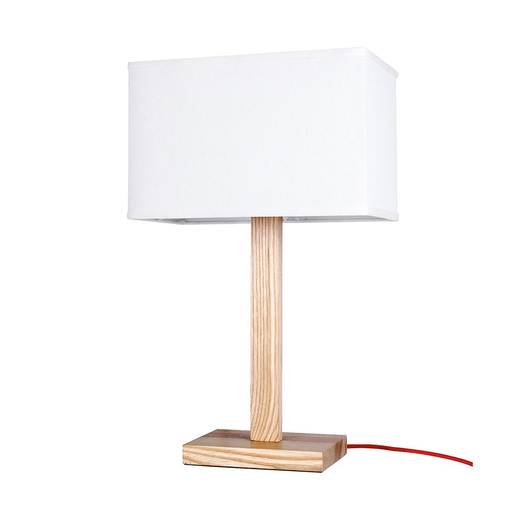 ems free ship table lamps modern style white desk lamp with wooden base table. Black Bedroom Furniture Sets. Home Design Ideas