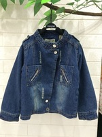 spring autumn and winter  children jeans wear clothing child clothing baby girl coat & jackets kids Thicken tops outerwear