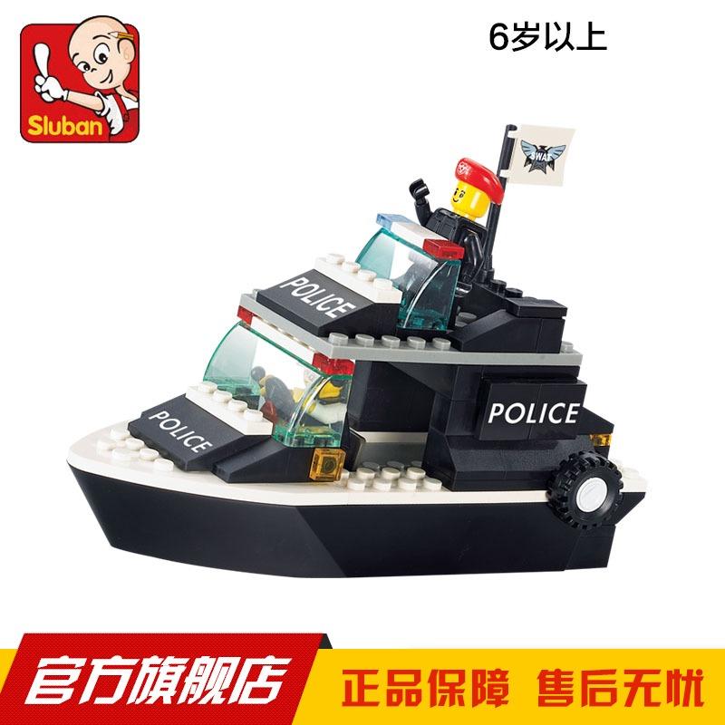 Compatible with lego blocks 1700 Sluban blocks patrol boat assembling building blocks plastic educational toys for childeren(China (Mainland))