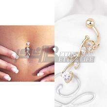1pcs 2015 fashion Sexy Body Jewelry Navel Dangle Belly Barbell Button Bar Ring Body piercing Art Belly Button Ring Piercing