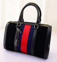 2015 New woman bag 3 colors Korean fashion lattice wave bag lady bag shoulder handbag trade baodan fashion handbags wholesale