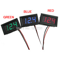 A3 Free shipping 1pc Mini DC 0~30V LED Panel Voltage Meter Digital LED Display Voltmeter Motorcycle Car T1105 P