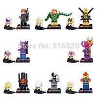 Super Heroes Assemble Minifigures 8pcs/lot SY258 Building Block Sets Model Bricks Toys For Children Lego Compatible
