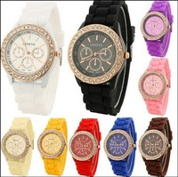 Popular watches Silicone jelly watch crystal  students to watch