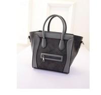 Famous Luxury Brand Fashion Women Lady PU Leather Smiley Tote Bag,Smile Face Color Tassel Classic Purse Handbag New