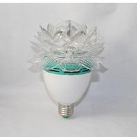 Rotate Lotus Lotos Flower Crystal E27 RGB LED KTV Disco Christmas Party Holiday DJ Lamp E27 Rotating Light Lights E27 LED Lamps