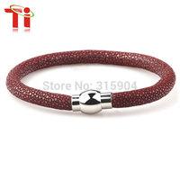 Ti 2015 Exclusive fashion genuine stingray bracelet ,girls  Bracelets For Party,luxury woman leather bracelet