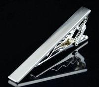 Retail New 2015 Simple Men Necktie Neck Tie Silver Tone Metal Clamp Tie Clip