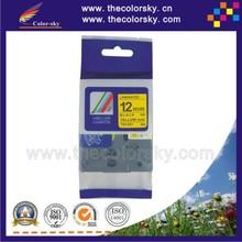 (TZe-631) 2pcs BLACK ON YELLOW tape label cartridge for brother P-touch TZe-631 TZe 631 TZ-631 TZ 631 1/2″  (12mm) free shipping