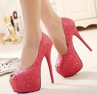 spring ladies platform wedding shoes woman 2015 girls peep toe pumps open toe sandals women shoes sexy high heels GD150187