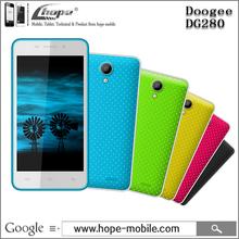 "Original Doogee DG280 Android 4.4 MTK6582 Quad Core Cell Phone 4.5"" FWVGA 1GB RAM 8GB ROM 5MP Dual SIM GPS WCDMA(China (Mainland))"