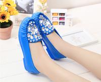 2015 diamond product launches women shoes rubber bottom flat shoes, women's flat casual shoes, P - U vamp, free shipping