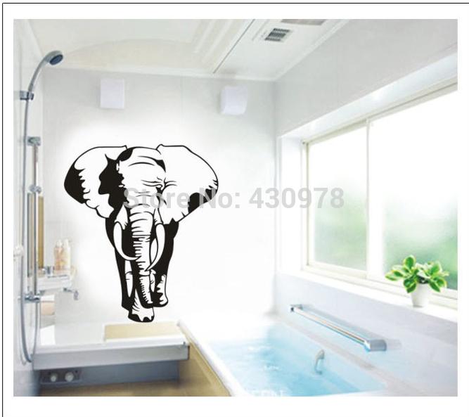 Elephant animal wall stickers decoration children kids room bathroom
