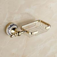 Continental antique gold-plated porcelain soap dish soap net soap dish soap shelf