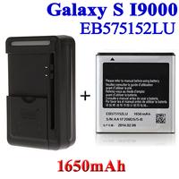 1650mAh EB575152LU Battery +USB Universal Charger fr Samsung Galaxy S i9000 GT-i9000 i9003 I9001 i589 i897 Bateria ACCU Cargador