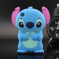 For iPod Touch 4 Case Cute Stitch Silicone Back Defender Cases Cover Skin