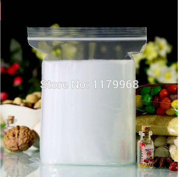 100pcs 20cmx30cm 7.8x11.8 inch Ziplock Poly Plastic Zipper Bags Pocket Big Transparent(China (Mainland))