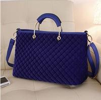 Autumn/winter 2013 the new velvet diamond mobile diagonal Plaid woolen cloth tide baodan shoulder handbags bags K-9