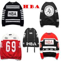 HOOD BY AIR HBA 69 Reflective Zipper Design Trend Full Sleeve Male Sweatshirts Top Version Hip Hop Casual Outerwear With Fleece