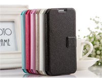 Silk Style PU Leather Stand Case With Card Slot For Samsung Galaxy S4