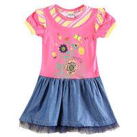 Baby Girl Dress Nova Summer Floral Princess Dress for Girls Kid Tutu Dress Girl Roupas Infantis Meninas H5909