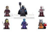 super heros Guardians of the Galaxy  6/pcs set minifigure  Building Block children toys