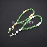 Lime Green Rondelles  Islamic Muslim Prayer Beads Tasbih 33beads Allah Misbaha Sibha   L150113009
