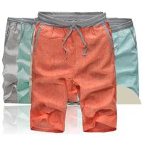 New Men's Linen Shorts 2015 Summer Brand Men's Sport Loose Mens Shorts Surfing Cotton Beach Linen Shorts Men Trunks Shorts