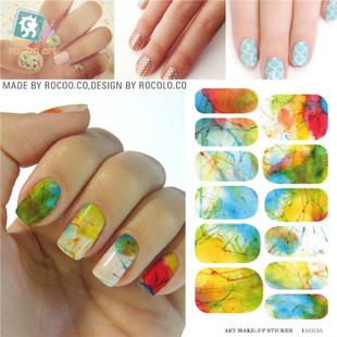 KH013A Fashion Nail Design Water Transfer Nails Art Sticker Harajuku Glitter Nail Wraps Sticker Watermark Fingernails Decals(China (Mainland))
