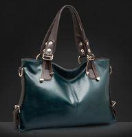 Fashion women's genuine leather handbag Messenger and shoulder bag simple and elegant design free shipping