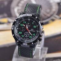 2015 new Casual Quartz watch men military Watches GT sport Wristwatch Dropship Silicone Clock Fashion Hours