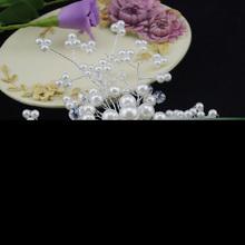 Free Shipping Elegant Wedding Pearl Crystal Bridesmaid Bridal Party Hair Comb Hairpin K5BO
