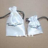 Free Shipping big silk pouch bag SABO white silk Thomas silk jewelry bag thomas package bag big