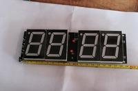 "18""red led display desk clock 7- segment red remote 4 digital countdown timer led module"