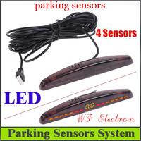 LED Display Car Parking sensor system Car Parking Reverse Backup Radar System+4 sensors,Free Shipping Wholesale R6