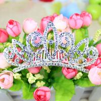 Size 110x50mm fashion silver crystal wedding crown flower bride crown women pageant rhinestone tiaras hair accessories jewelry