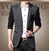 2015 Spring Hot New Arrival Men's Clothing Male Casual Blazer Gentlemen Outerwear Fashion Slim Fit Suit Jacket Coat S-4XL